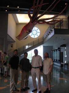 John Rife, Alex, John Nelson, and Jon Jones at BUEI
