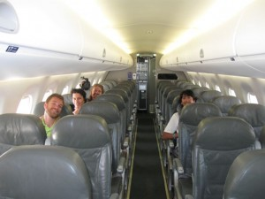 The back half of our empty plane!