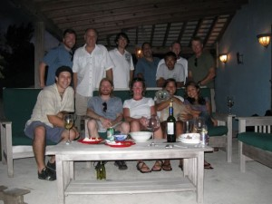 The Cambrian and IntX crews at Maddocks' residence