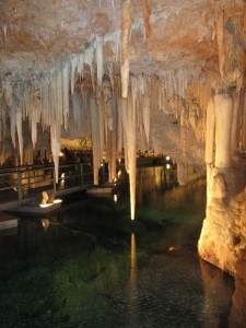 Floating dock in Crystal Cave