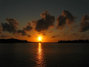 Sunset at Grotto Bay