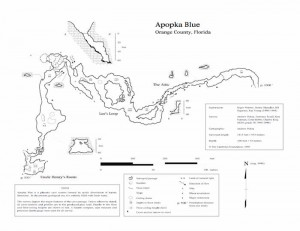 Map of Apopka Blue Sink.  Copyright, The Cambrian Foundation 1994-2009