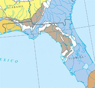 The Floridan Aquifer In Blue