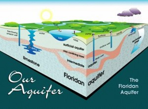 A sectional view showing the Floridan Aquifer