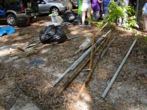 Fenceposts and metal pipes removed from Apopka Blue Sink