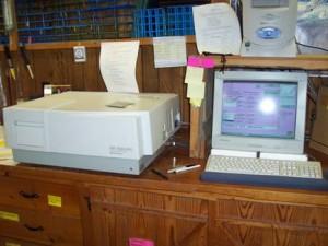 Spectrofluorophotometer.  Photo, courtesy Ozark Underground Laboratory