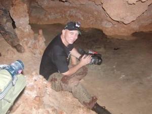 Bob filming a documentary on location near Tulum, Mexico