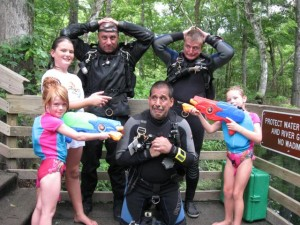 Shortly after the O-ring hold-up, our dive team was overrun by a superior team of swimmers and quickly disarmed.