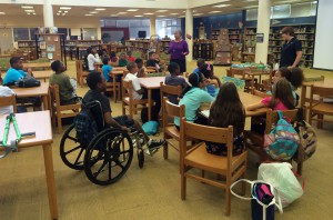 Marissa teaches STEM campers how science, technology, engineering, and mathematics are critical to stormwater management